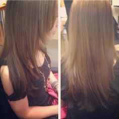 #shareIG #hair #ombre  Reverse ombre or subtle sombre - dark dirty blonde/light brown to dark brown/black on the bottom, coming out from underneath the hair.