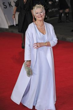 James Bond Photos: Dame Judi Dench seen attending the world premiere of film 'Skyfall' held at London's Royal Albert Hall