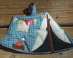 Camping Tent Potholder, made to order