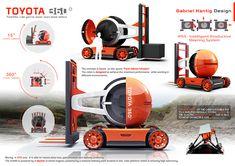Toyota 360 Forklift design concept 2016 on Behance Lift Design, Design Logo, Design Poster, Toyota, Gnu Linux, Presentation Layout, Presentation Boards, Industrial Design Sketch, Co Working