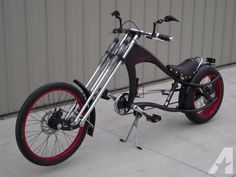 Cool Bicycles, Vintage Bicycles, Cool Bikes, Bike Chopper, Norton Cafe Racer, Recycled Bike Parts, Lowrider Bicycle, Motorised Bike, Motorized Bicycle