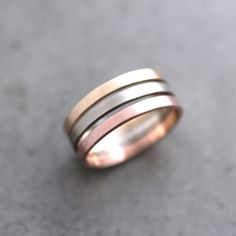 Rose Gold Wedding Band Stackable Ring, 2mm Slim Recycled 14k Rose Gold Ring Brushed Pink Gold Wedding Ring or Stacking Ring
