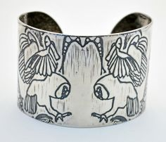 large sterling silver owl bangle by annamcdade on Etsy, $500.00