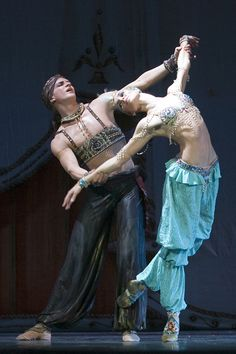 Ilya Kuznetsov and Alexandra Iosifidi in Scheherazade. Photo (c) Mariinsky Theatre