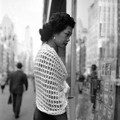 Window shopping. New York City, 1954. Photograph by Vivian Maier