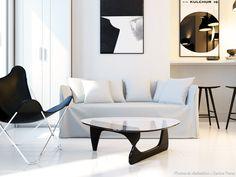 Rénovation d'un studio de 20 m2 en noir et blanc, Agence KP - Côté Maison
