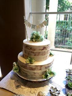 Rustic Semi Naked Baby Shower Cake