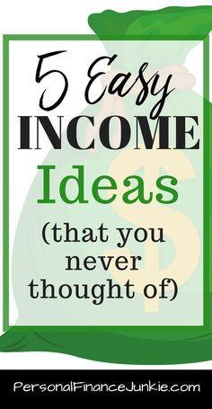 5 little known ways to make money online. Get passive income ideas, side income ideas, income ideas and tips, work at home jobs.