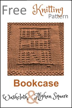 Knitted Dishcloth Patterns Free, Knitting Squares, Knitted Washcloths, Knit Dishcloth, Easy Knitting Patterns, Knitting Stitches, Free Knitting, Crochet Patterns, Knitting Ideas