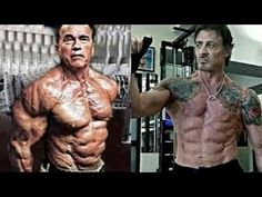 Arnold Schwarzenegger, Ronnie Coleman, The Rock and Sylvester Stallone w...