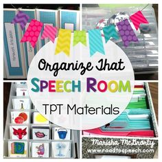 Is your speech room overflowing with TPT materials? Looking for ways to get it all organized? Click through to read all about it.