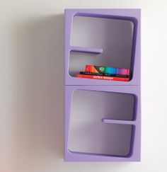 Modular Versatile Bookcase in Catchy Colors - Quby by B-Line