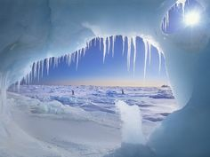View from Ice Cave on Ellesmere Island, Nunavut, Canada. --- Image by © Alexandra Kobalenko/All Canada Photos/Corbis