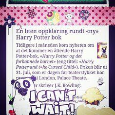Nytt innlegg i avisa  Link bio  En liten oppklaring rundt ny Harry Potter bok  Gledet du deg? Skal du se teaterstykket, eller/og lese manuset? ▫▪▫▪▫▪▫▪▫▪▫▪ #harrypotterandthecursedchild #harrypotter #kleggen #harrypotterogdetforbannedebarnet #galtvort #albusseveruspotter #JKRowling