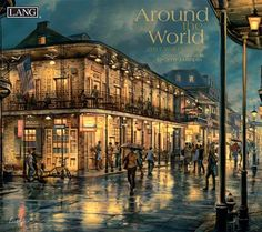 Beautiful pictures of old world European cities, towns and riverbanks grace this artistic Around the World 2017 calendar. Russian painter Eugene Lushpin provides a painting each month accompanied b… World Calendar, Calendar 2017, World 2020, Paintings I Love, Old World, Beautiful Pictures, Louvre, Around The Worlds, Mansions
