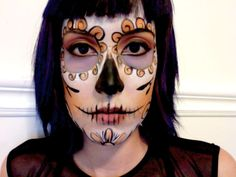 I love the chin!  awesome mexican skull makeup