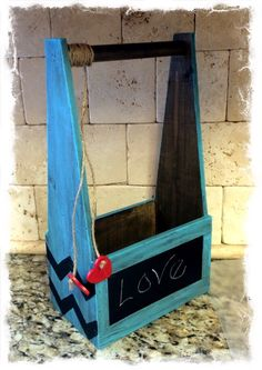 I found this sturdy little wood chalkboard crate box at Goodwill for just a few dollars and couldn't pass it up. All it needed was a little paint. I first taped off the chalkboard so I wouldn't get paint on the chalkboard part of the wooden crate box. Then I started off dry brushing some [...]