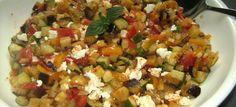 Warmer Auberginensalat mit Schafskäse | Red Kitchen
