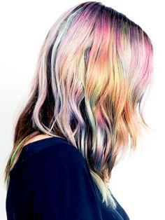 The next cool-girl hair trend: opal hair