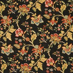 Montblanc Calico by Kasmir Calico Fabric, Boarders, Vintage Paper, Texture, Floral, Prints, Design, Jacobean, Inspiration