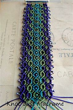 Micro Macrame Bracelet Work in Progress - Media - Beading Daily