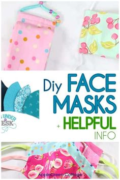Updated to include all types of diy face masks, even the latest box-pleated face mask! - See how to make face masks with these diy face mask patterns. Free patterns to make non-surgical homemade face protection masks, fitted face masks and pleated face mask patterns plus a lot of face mask sewing tips and resources. Check them out now! #facemask #diyfacemask #homemadefacemask #covid Easy Craft Projects, Sewing Projects For Beginners, Craft Tutorials, Free Sewing, Sewing Tips, Sewing Hacks, Potholder Patterns, Easy Sewing Patterns, Diy Face Mask