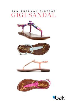 You can't go wrong with classic summer styling. Add a pop of modern color to your look with these Sam Edelman Gigi sandals. They're perfect for date night or lunch with the girls in your casual jeans and a tee. Choose a new summer pink or go wild with one of the beaded options. The style possibilities are endless! Shop these sandals at belk.com.