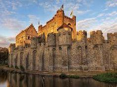 The castle moat, Gent, Belgium
