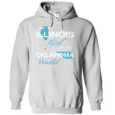 Just An Illinois Girl In A Oklahoma World T Shirts, Hoodie Sweatshirts