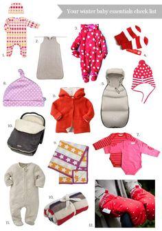 Your winter baby essentials check list