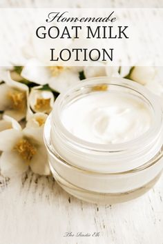 This homemade goat milk lotion recipe is a really easy DIY for your skincare routine and the benefits of goat milk for your skin are amazing. Nourishing, simple, homemade lotion recipe using raw goat milk and essential oils. Diy Lotion, Lotion Bars, Homemade Body Lotion, Goat Milk Recipes, Diy Savon, Baking Soda Uses, Goat Milk Soap, Soap Recipes, Home Made Soap