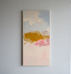 Original Acrylic Abstract Painting // Title: Home // 12 x 24 by Brenna Giessen // Etsy Art Inspo, Painting Inspiration, Abstract Watercolor, Abstract Art, Art Amour, Art Et Illustration, Art Design, Love Art, Oeuvre D'art