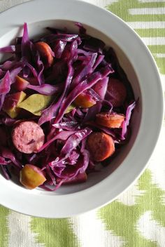 So much healthy goodness when you combine cabbage with apples - a great dinner pick!