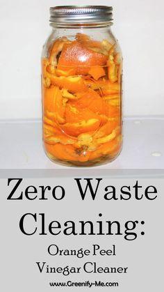 Zero Waste Cleaning: Orange Peel Vinegar Cleaner