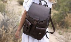Large Brown Leather Backpack by Beara Beara