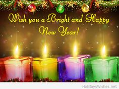 Wish you happy New year lights 2015