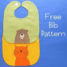 Babies always need bibs. That means the people who love babies need a go to, easy baby bib pattern. It's a simple bib shape – very easy to make and customize with… Baby Bibs Patterns, Applique Patterns, Sewing Patterns Free, Free Sewing, Sewing Tutorials, Sewing Projects, Applique Ideas, Sewing Ideas, Sewing For Kids