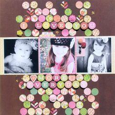 #papercraft #scrapbook #layout. BasicGrey   Vivienne   Layout   Nicole Nowosad