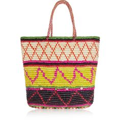 Sensi Studio Woven toquilla straw tote (€125) ❤ liked on Polyvore featuring bags, handbags, tote bags, black, tote purses, woven tote bags, tote handbags, straw tote and colorful purses