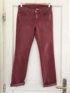 Red Washed Jeans Uniqlo - vinted.fr