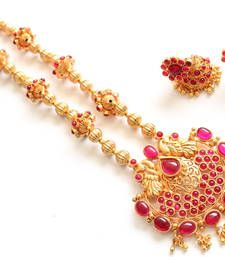Buy  Beautiful antique kemp peacock short haar set necklace-set online