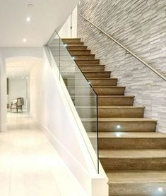 How to choose and buy a new and modern staircase – My Life Spot Modern Stair Railing, Stair Railing Design, Modern Stairs, Glass Stair Railing, House Staircase, Staircase Railings, Stair Handrail, Escalier Design, Stairs In Living Room