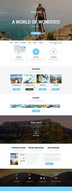Template 50911 - Travel Portal Responsive Website Template #wordpress #themes Está farto de procurar por templates WordPress? Fizemos um E-Book GRATUITO com OS 150 MELHORES TEMPLATES WORDPRESS. Clique aqui http://www.estrategiadigital.pt/150-melhores-templates-wordpress/ para fazer download imediato!