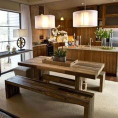 Asian style dining room designs and ideas with bench seating