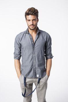 LMM - Loving Male Models — Mariano Di Vaio Denim Button Up, Button Up Shirts, Wattpad, Male Models, Eye Candy, Men Casual, Mens Fashion, Mens Tops, Photography