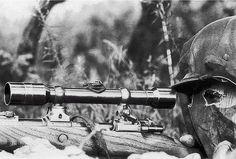 German Sniper with Karabiner 98k in the esatern front ww2