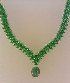 Scroll down the page to find the instructions for making the Russian beaded necklace tutorial. The link also has instructions on how to make a beaded Russian leaf (peyote stitch).