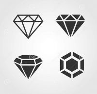 Black diamond tattoo design ideas