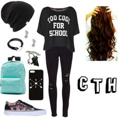 Calum Hood inspired school outfit