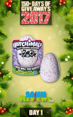 We're excited to be offering 150+ Days of Giveaways in conjunction with our Holiday Gift Guides.   One lucky SahmReviews.com winner will receive a Hatchimals™ Glittering Garden (ARV $55)!